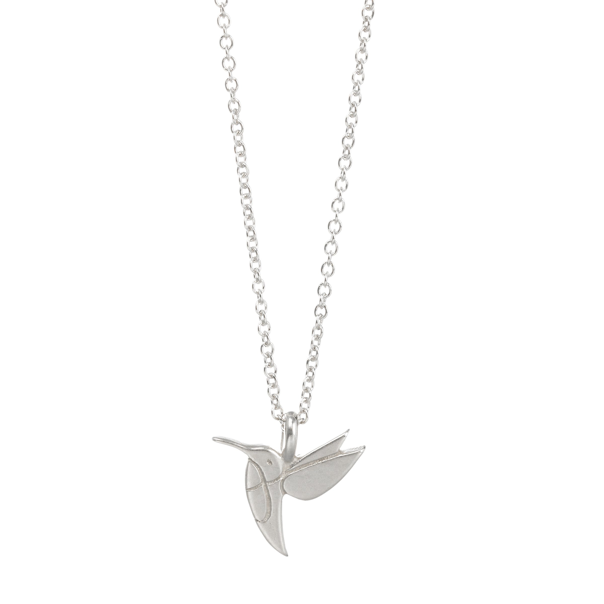 Dogeared Life Is Beautiful Sweet Hummingbird Sterling Silver Wish 16'' -18'' Necklace