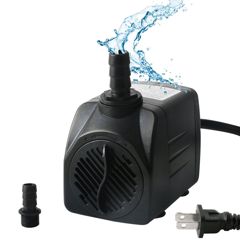 OKPOW 400GPH Aquarium Pump Submersible Fountain Water Pump for Aquarium, Fish, Tank, Pond, Statuary, Hydroponics (25W-1500L/H)