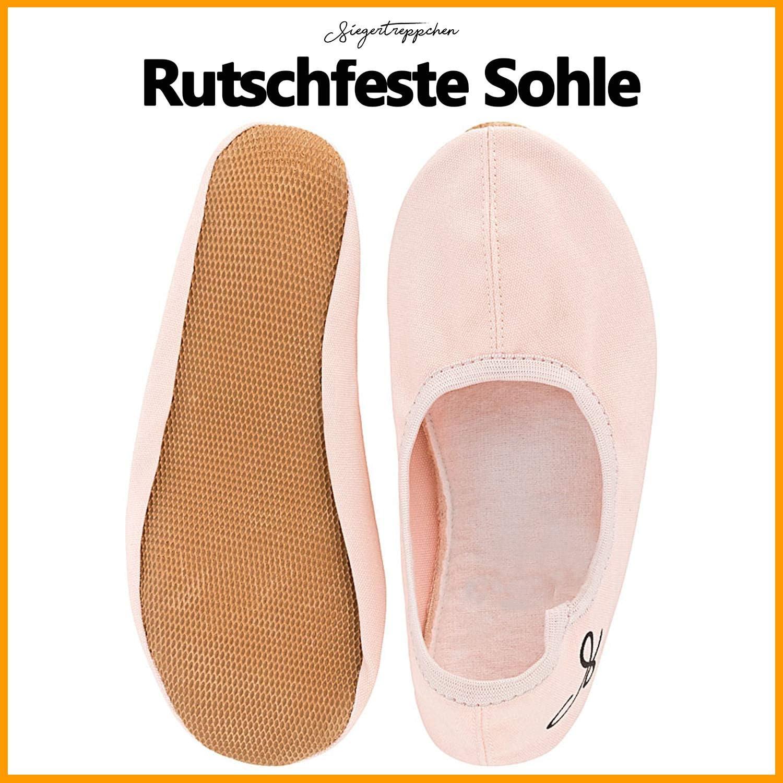Rosa Siegertreppchen/® Turnschl/äppchen Stoff Gr/ö/ße 27 Gymnastikschuhe f/ür M/ädchen /& Jungen  Ballettschuhe atmungsaktiv /& rutschfest