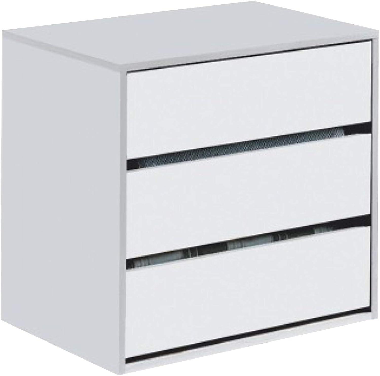 Habitdesign ARC6030 Cajonera Auxiliar 3 cajones, Blanco Mate, 60 cm (Ancho) x 57 cm (Alto) x 44 cm (Fondo): Amazon.es: Hogar
