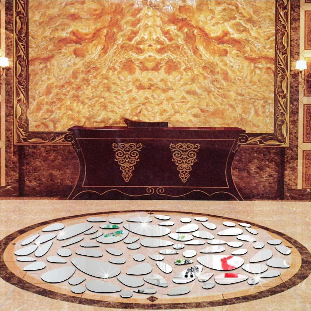Combort Specchio Acrilico Foglio Ovale Acrilico Specchio Piastrelle Adesivo DIY Wall Sticker Art Home Frameless Sfondi Decor Specchi