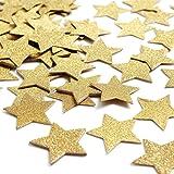zooyoo 800pcs gold star glitter paper confetti glitter paper confetti wedding party decor and table decor