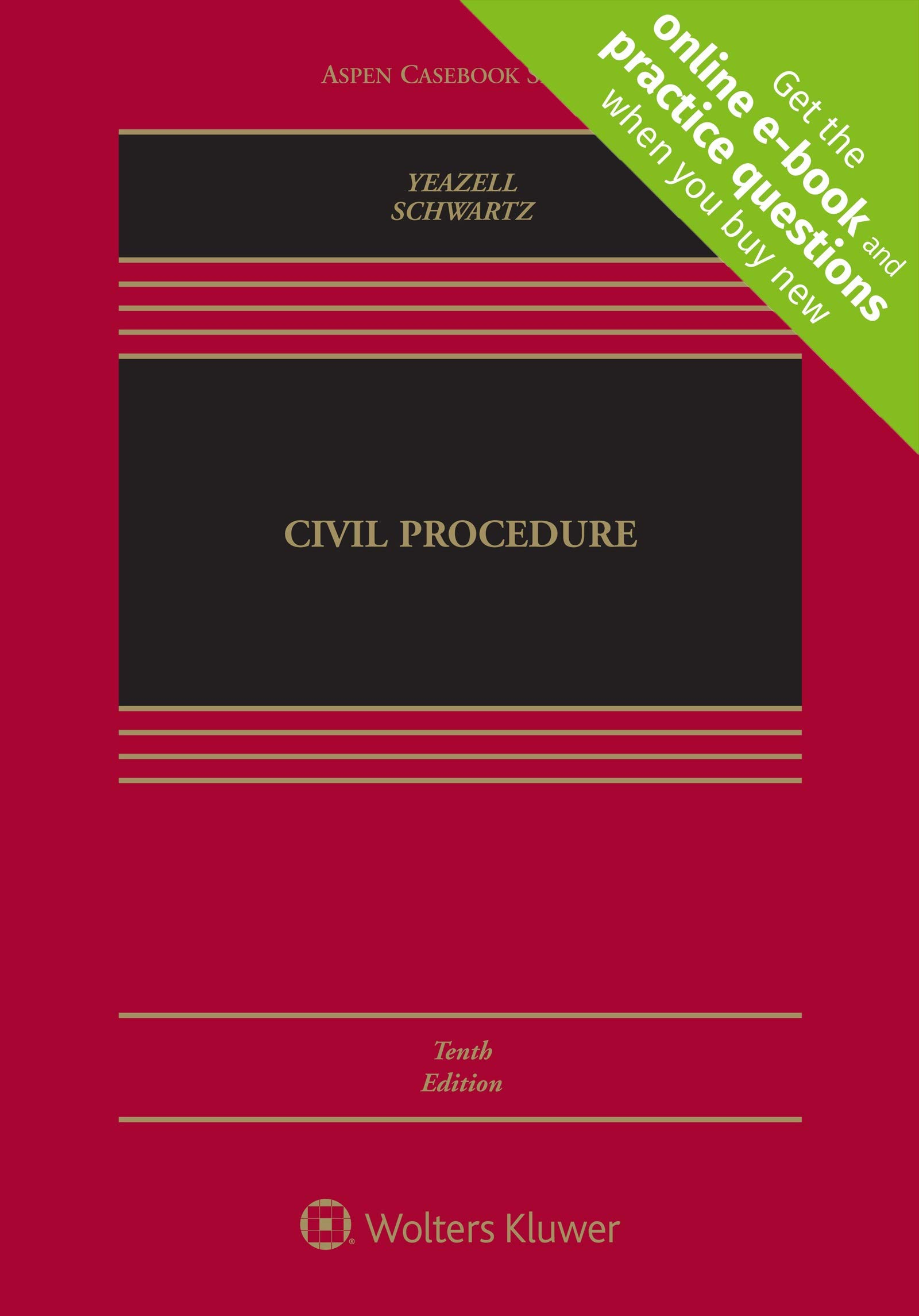 Civil Procedure [Connected Casebook] (Aspen Casebook) by Wolters Kluwer