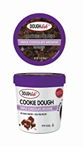 Taste of Nature Doughlish Edible Cookie Dough - Triple Chocolate Brownie 14oz Pint, 6ct