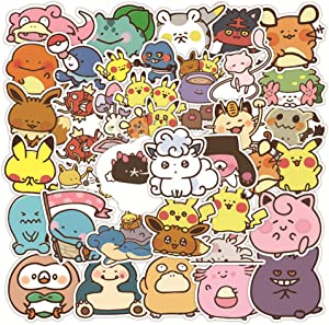 Pokemon Cartoon Laptop Stickers for Kids Teen, Cool Waterproof Vinyl Decal for Water Bottle Luggage Phone Guitar Computer Bike Skateboard - Pokemon