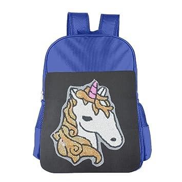 Unicorn caballo de los niños mochila Bolsa para el almuerzo bordado, diseño de unicornio: Amazon.es: Hogar