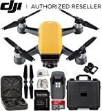 DJI Spark Portable Mini Drone Quadcopter Water Proof Hard Case Starter Bundle (Sunrise Yellow)