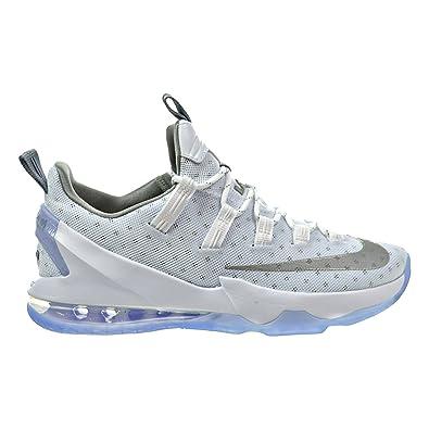 3d402640c1544e Nike Lebron XIII Low Men s Shoes White Metallic Silver Light Iron Ore 831925 -