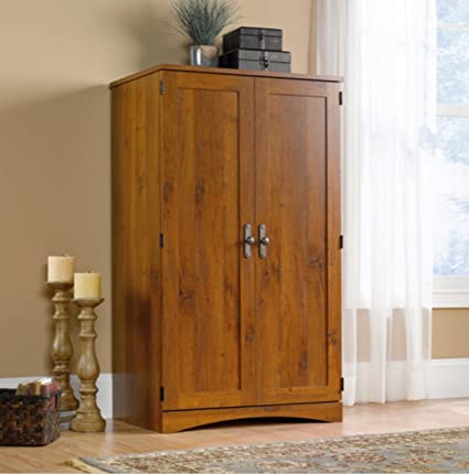 Computer Armoire Desk Space Saving Cabinet Conceals Monitor, Printer, Cpu,  Speakers And