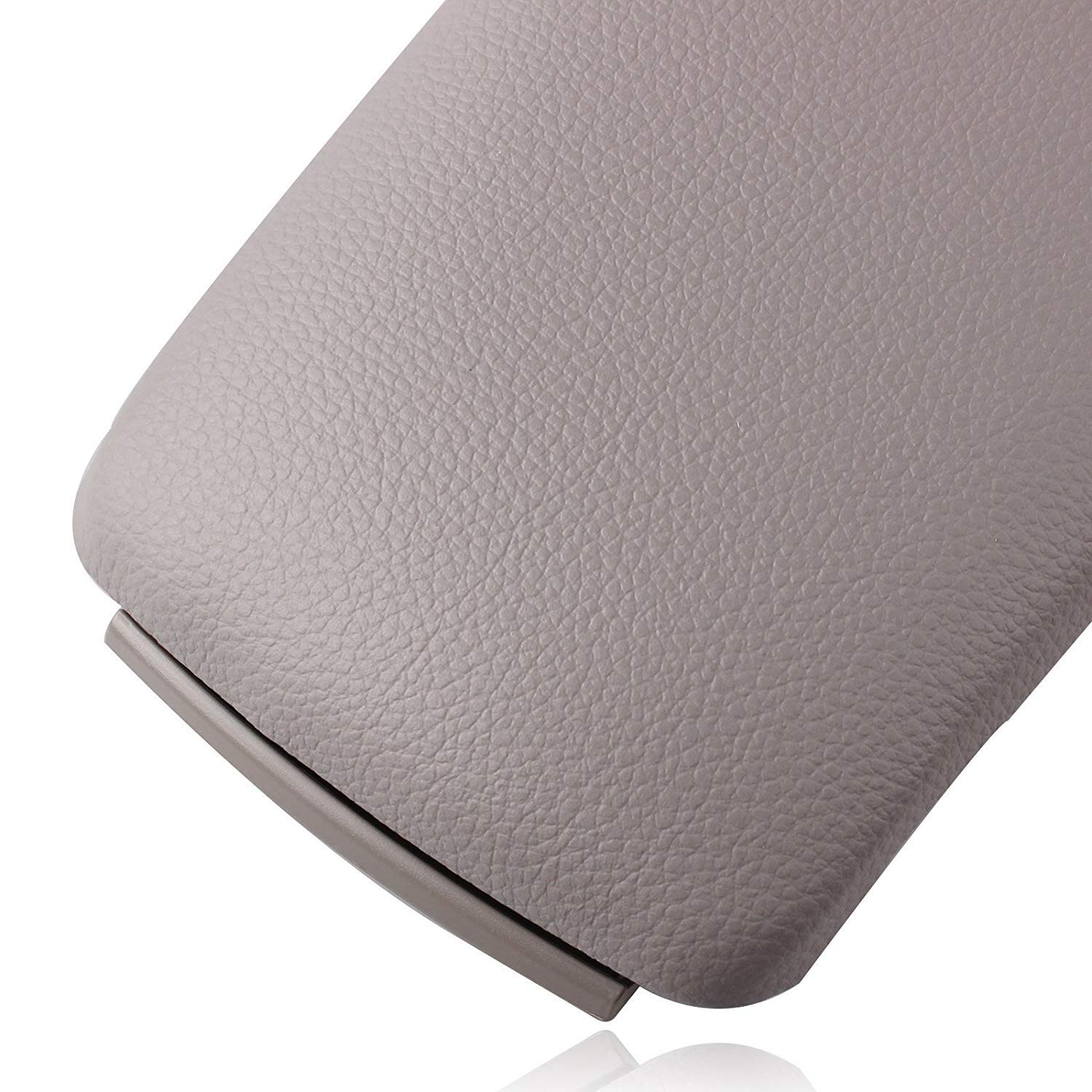 Heart Horse Car Leather Armrest Arm Rest Center Console Lid Cover For AUDI A4 B6 Interior Replacement Grey