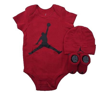 Nike AJ Air ilusión Jordan Jumpman 3 Piezas bebé Juego de Regalo. Overol 1794af9d409