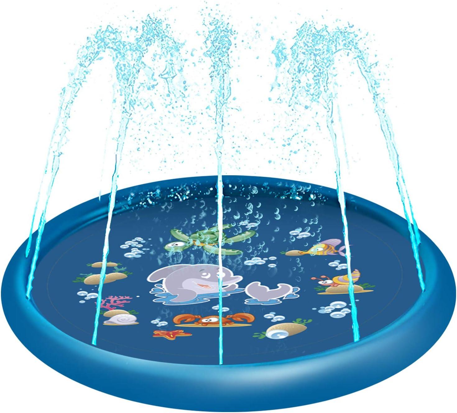 Perfect Summer Outdoor Party Sprinkler Toy 68 Splash Play Mat for Children Infants Toddlers Boys Girls Kids Mirooyu Splash Pad