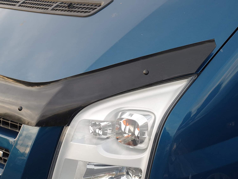Van Demon Tailored Black Bonnet Deflector Acylic Hood Stone Bug Protector Guard for Ford Transit MK7 06-14