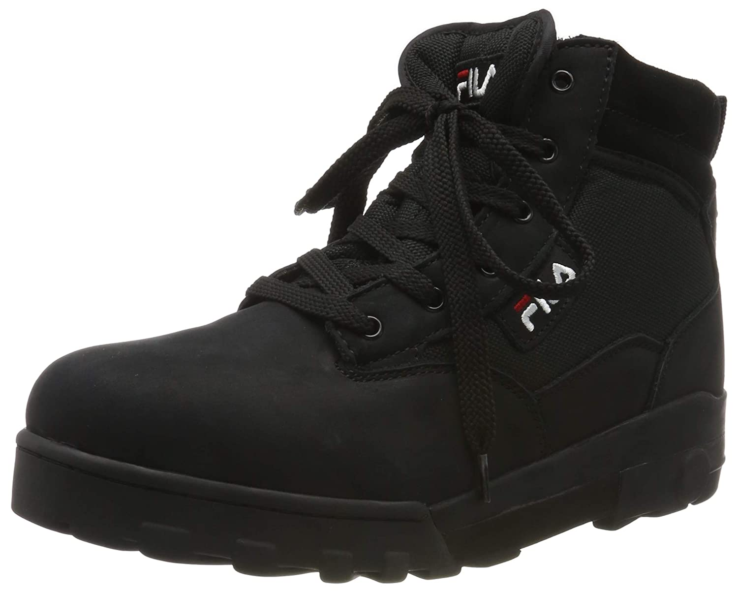 Black (Black 25y) Fila Men's Grunge Mid Hi-Top Trainers