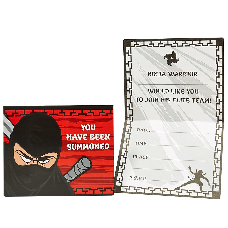Amazon.com: Ninja Warrior Party Supplies – Invitaciones (8 ...