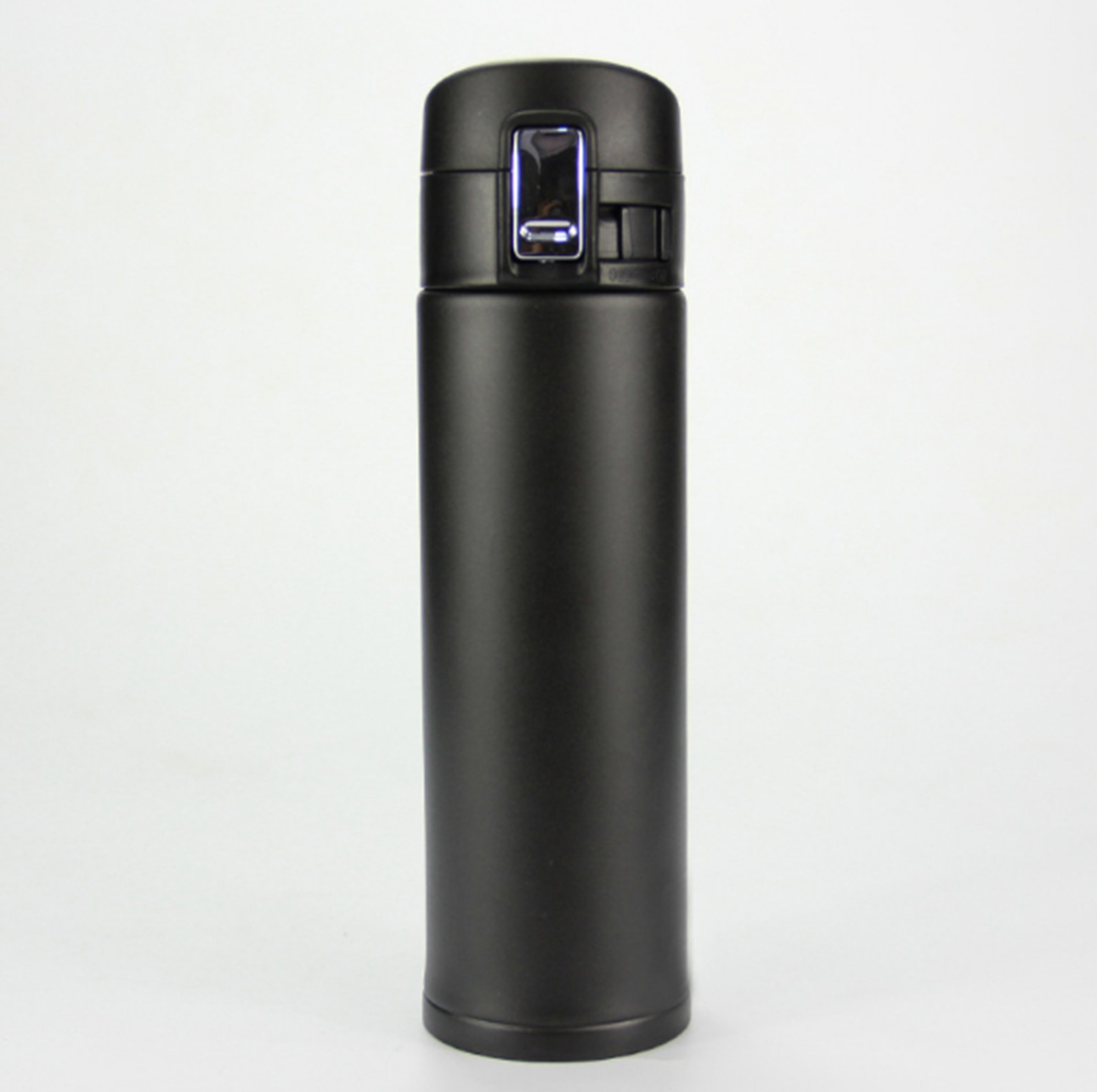 NOMSOCR Double Wall Vacuum Insulated Stainless Steel Coffee Travel Mug, One Hand Open, Resistant to stains and odors, Office Outdoor Water Bottle Keep warm for 12 to 24 hours (Black, 17-Ounce) by NOMSOCR (Image #1)