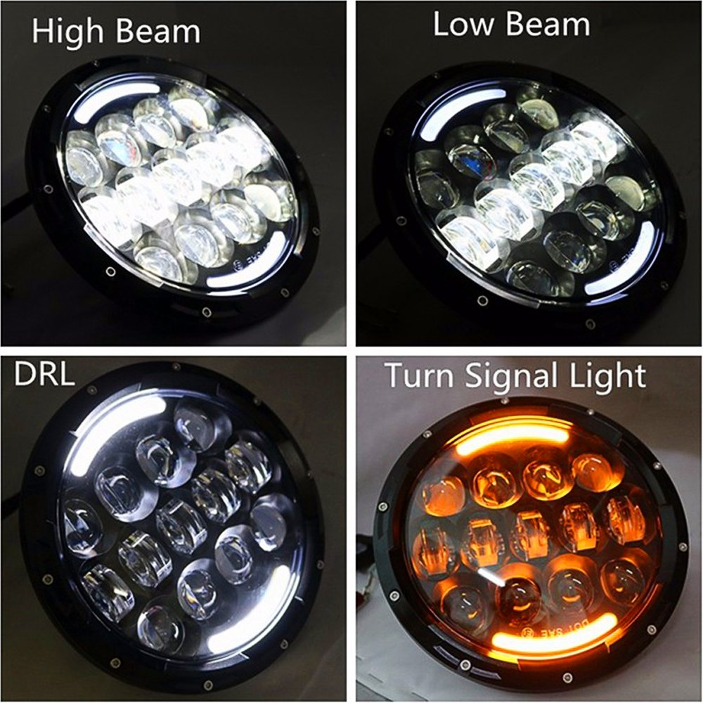7 Inch Led Headlight Projector Drl Amber Turn Signal For