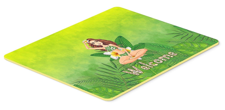 Caroline 's Treasures bb7457jcmt Welcome Lady inビキニ夏キッチンやバスマット24 x 36、24 x 36 W ,マルチカラー   B071FVD3CF