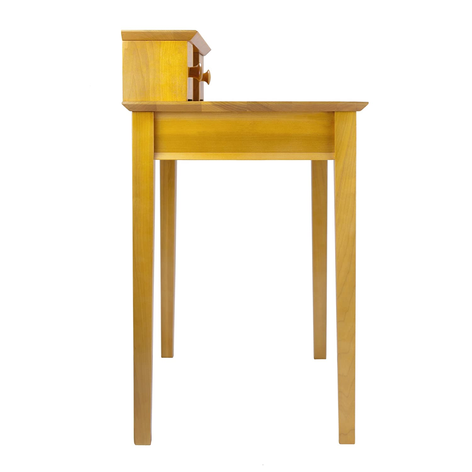 Small Writing Desk For Bedroom Amazoncom Winsome Wood Writing Desk Honey Kitchen Dining