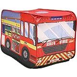 Charles Bentley Kids Fire Engine Play Tent Indoor Outdoor Polyester H70 x W110 x D70cm
