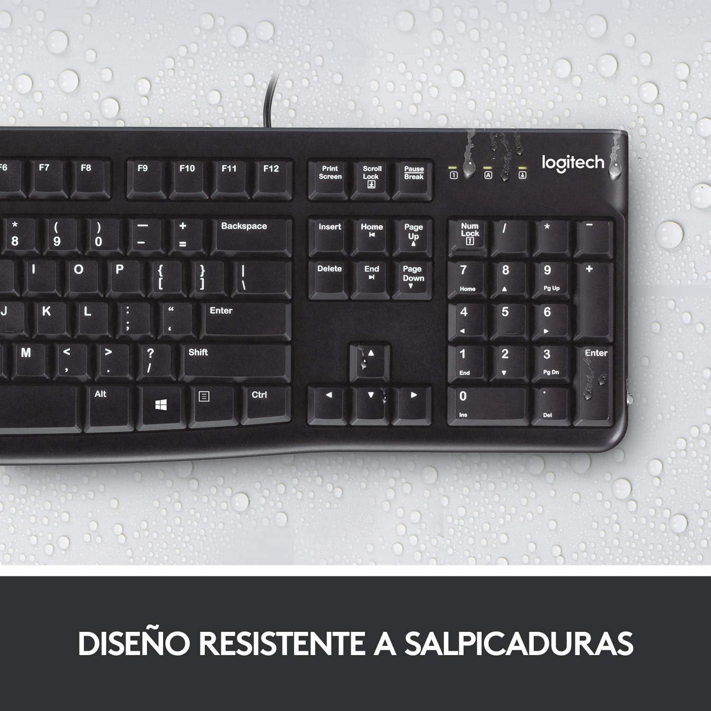 Logitech K120 Teclado con Cable para Windows, Tamaño Normal ...