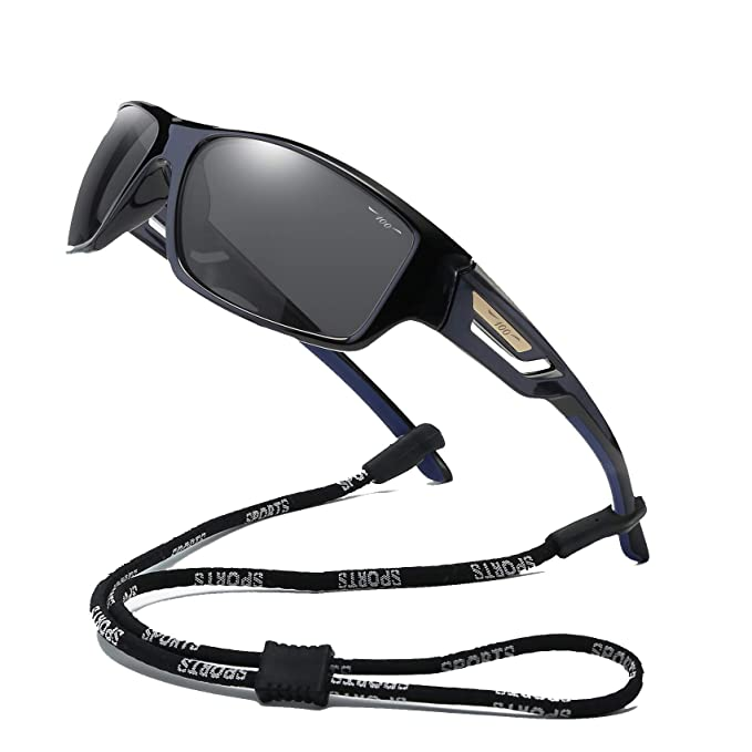 a1f504bc1c 100 Classic Polarized Sports Sunglasses TR90 Unbreakable Frame for Men  Women Running Cycling Fishing Golf Baseball