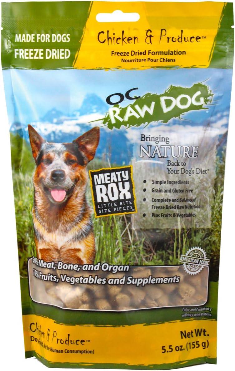 OC RAW DOG Freeze Dried Meaty Rox, Chicken, 5.5 oz