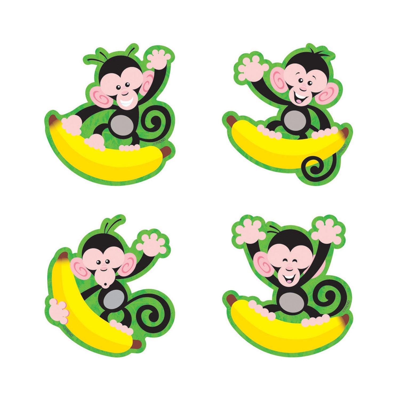 TREND enterprises, Inc. T-10818BN Monkeys and Bananas Mini Accents Variety Pack, 36 Per Pack, 6 Packs