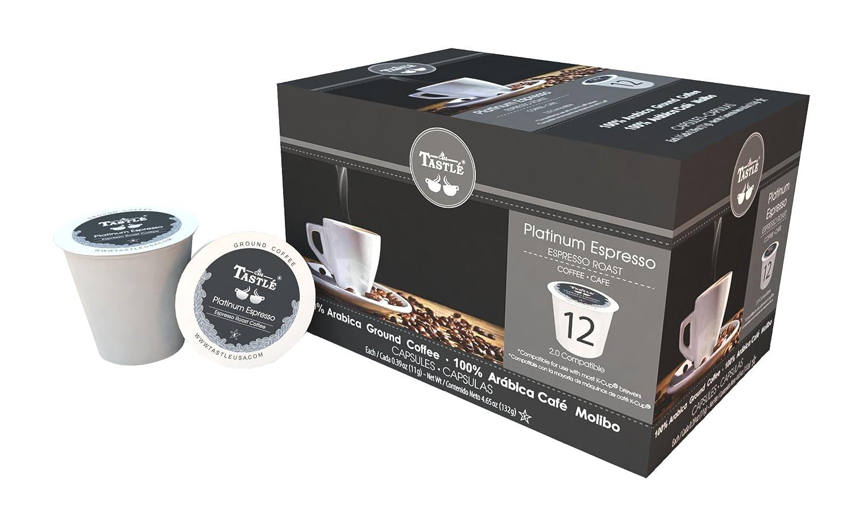 Cafe Tastlé Platinum Espresso Roast Single Serve Coffee, 48 Count (Pack of 4): Amazon.com: Grocery & Gourmet Food