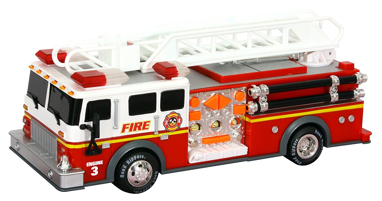 amazon com toy state 14 rush and rescue police and fire hook and