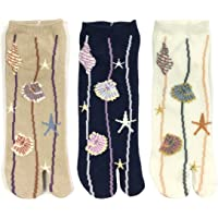 Bowbear Womens 3-Pair Flip-Flop Socks