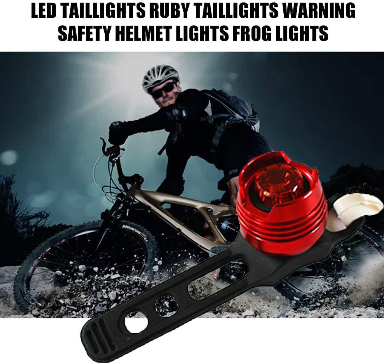 lumi/ère Rouge Rouge MXECO LED Feux arri/ère en Alliage daluminium Haute luminosit/é Feux arri/ère Rubis Avertissement lumi/ères de Casque de s/écurit/é lumi/ères de Grenouille de v/élo