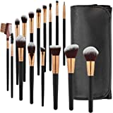 SOLVE Makeup Brushes 16 Pcs Premium Synthetic Foundation Blending Blush Concealer Eye Shadow Makeup Brush Set,Leather…