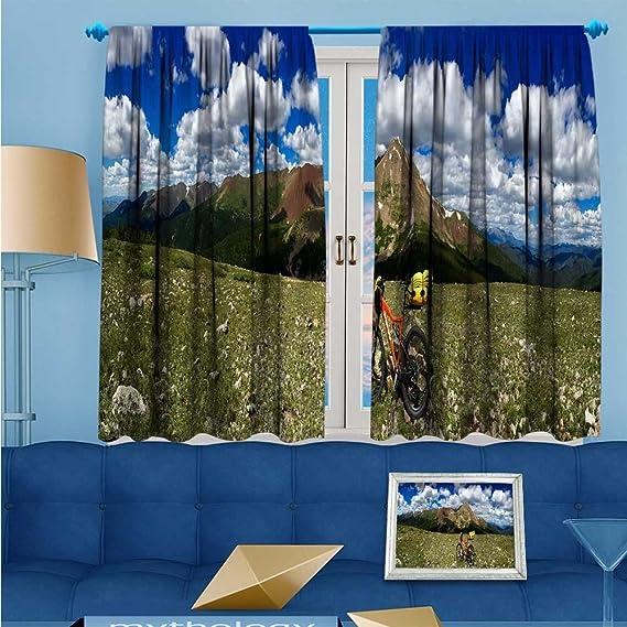 L-QNHOME Cortinas rústicas para decoración del hogar, Juego de 2 Cortinas para Ventanas de salón o Dormitorio, diseño de tiantán de Pekín: Amazon.es: Hogar