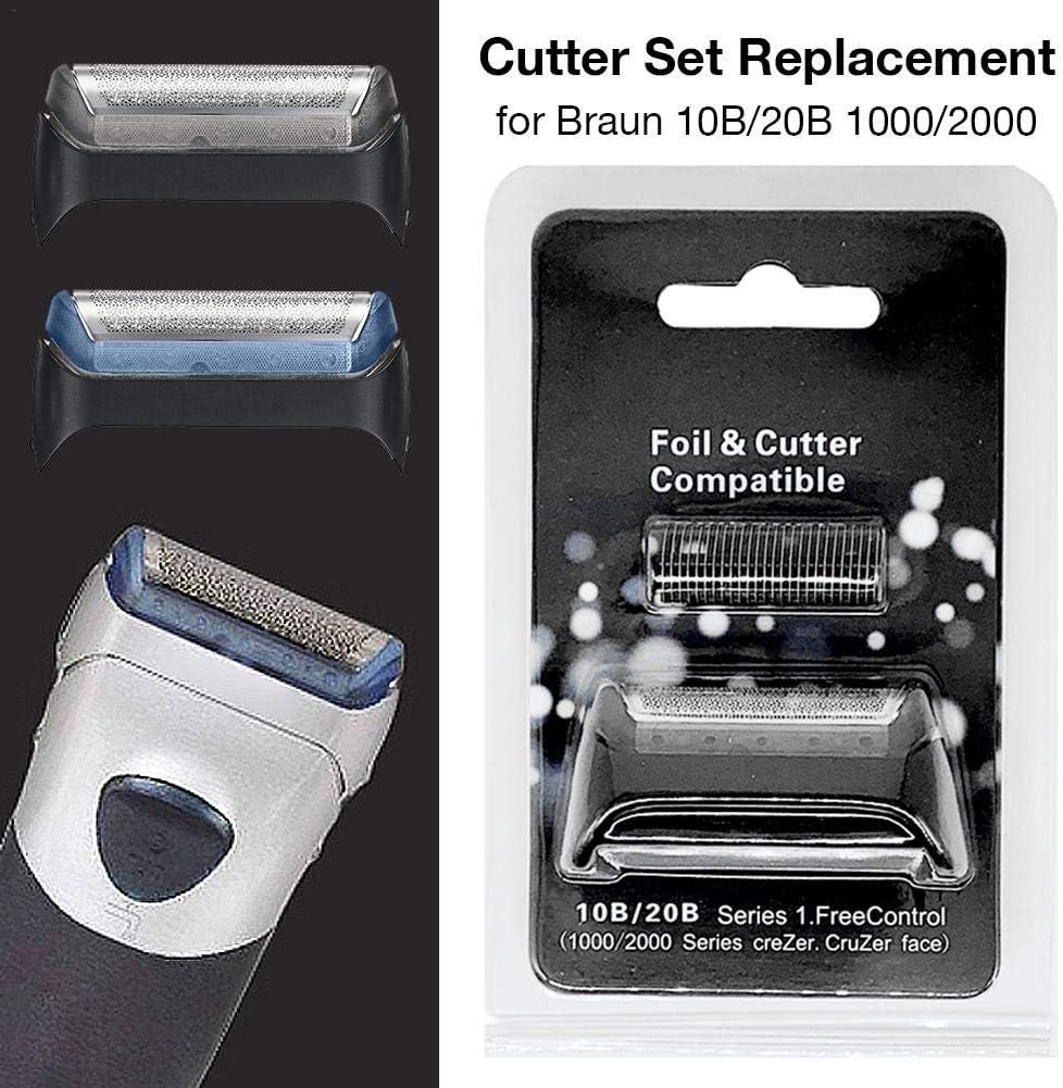 Cabezal de afeitar de repuesto para la afeitadora eléctrica Braun, pantalla de lámina de afeitadora + cuchilla de ...