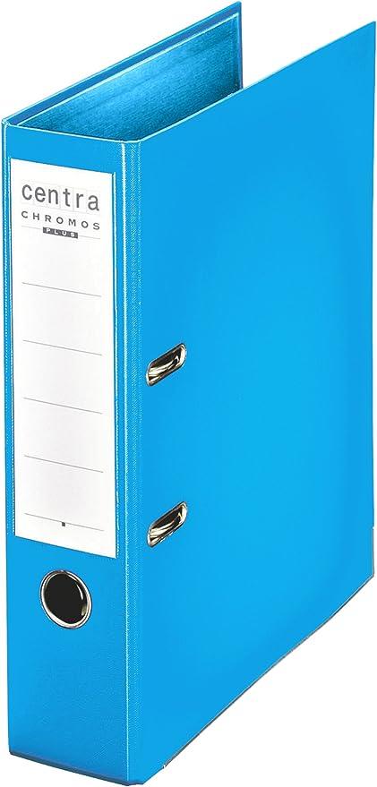 Esselte - Archivador folio, de palanca, tapas de plástico, tamaño A4, color azul celeste: Amazon.es: Oficina y papelería