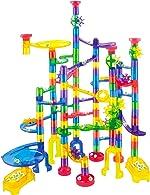 JOYIN Marble Run Premium Toy Set (170 Pcs), Construction Building Blocks