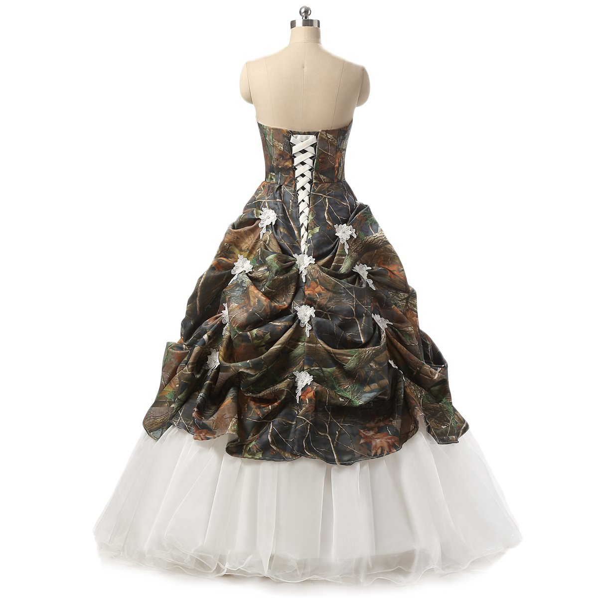 aa7d676477756 Plus Size Camo Wedding Dresses With Sleeves