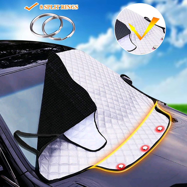 157 126C M Auto Frontscheibenabdeckung Abdeckung Autoscheibenabdeckung Windschutzscheibe magnet Faltbare Abnehmbare Schutz vor UV-Strahlung Hitzeschutz Staub Dreck Fros193
