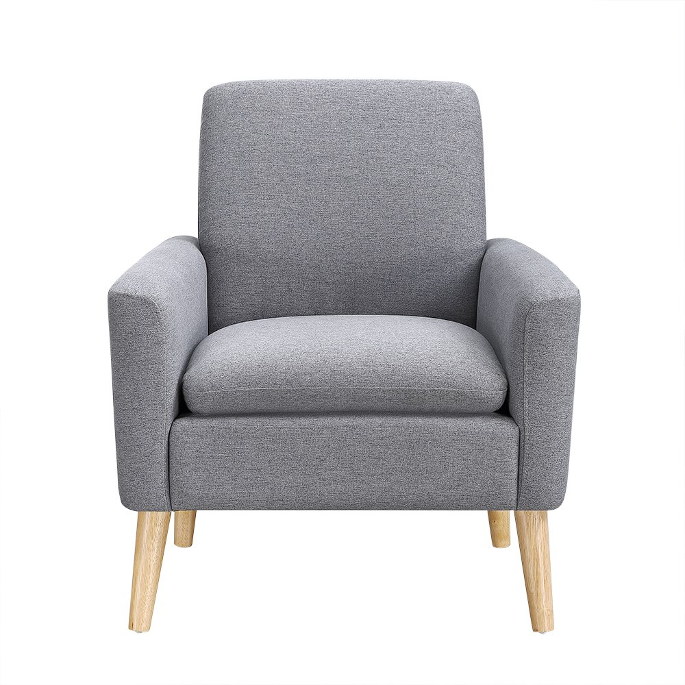 Lohoms Modern Accent Fabric Chair Single Sofa Comfy