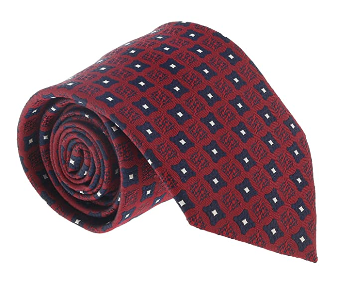 97b038c3 Ermenegildo Zegna Red-Navy Curved Square Tie for mens at Amazon ...