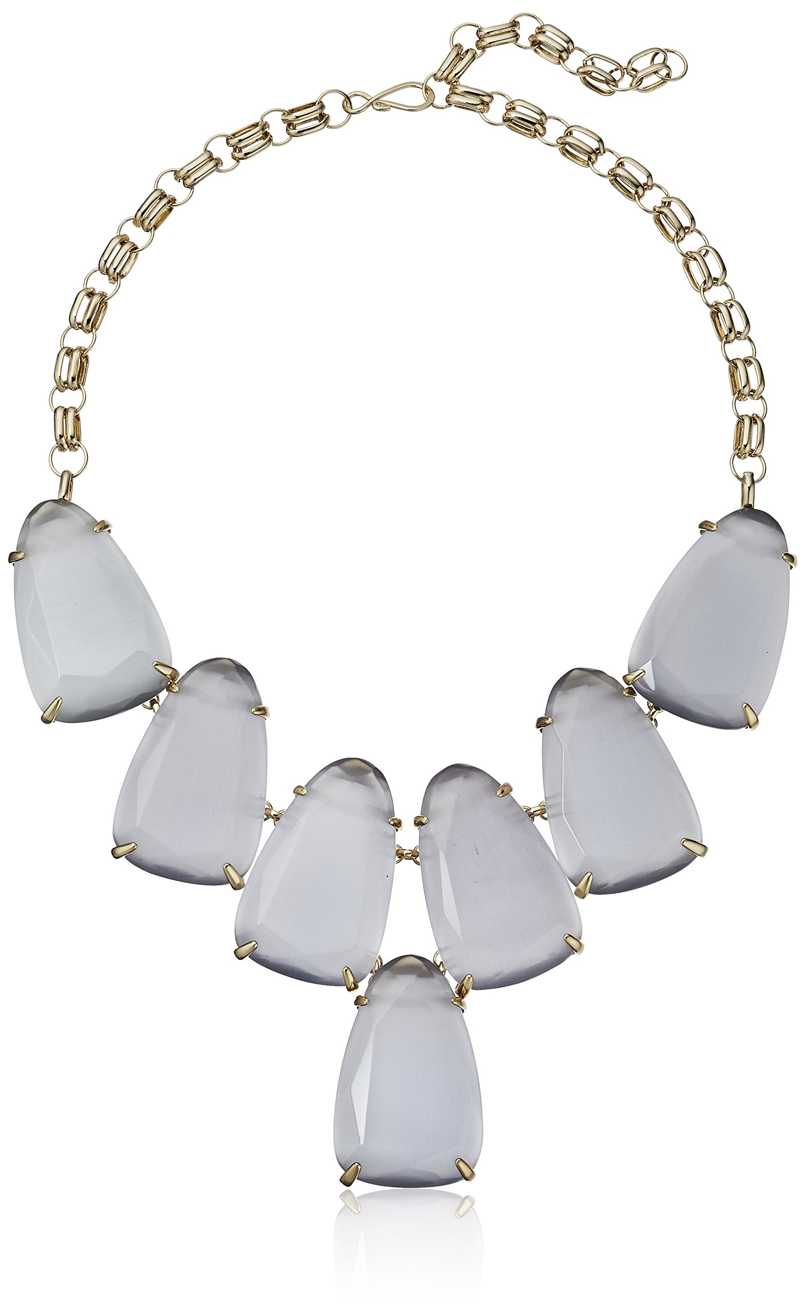 Kendra Scott ''Signature'' Harlow Gold plated Slate Glass Statement Necklace, 20''