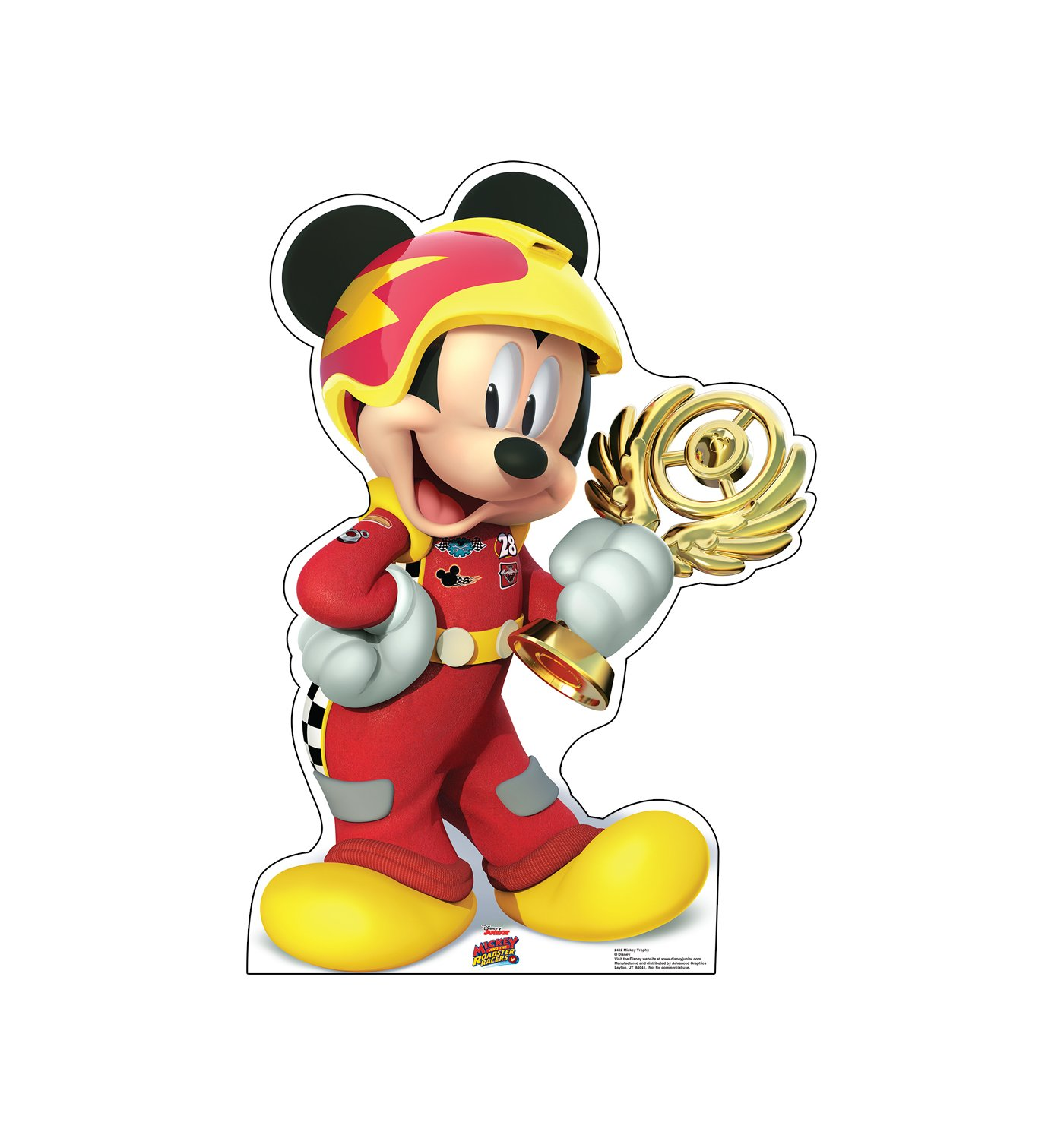 Advanced Graphics Mickey Trophy Life Size Cardboard Cutout Standup - Disney Junior's Mickey and the Roadster Racers by Advanced Graphics