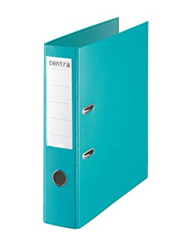 Centra - Archivadores de palanca con anillas, plástico, lomo de 75 mm, tamaño A4, 10 unidades, color azul: Amazon.es: Oficina y papelería