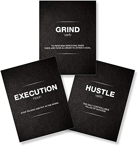 Amazon Com It S A Skin Execution Grind Hustle Motivational Poster Great Wall Art For Home Decor Bedroom Decor Kitchen Wall Decor Room Decor Gym Office Man Cave Garage Posters Prints