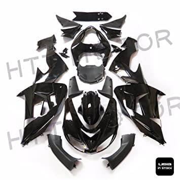 XKMT-Glossy Black ABS Plastic Fairings Bodywork Compatible With 2006-2007 Kawasaki Ninja ZX10R [B07675PNSY]