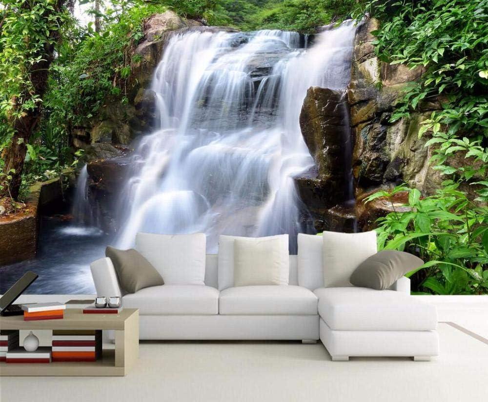 Fondo pantal personalizado HD paisaje agua cascada salón jardín paisaje TV sofá fondo murales pared papel tapiz 3d_120X100CM: Amazon.es: Bricolaje y herramientas