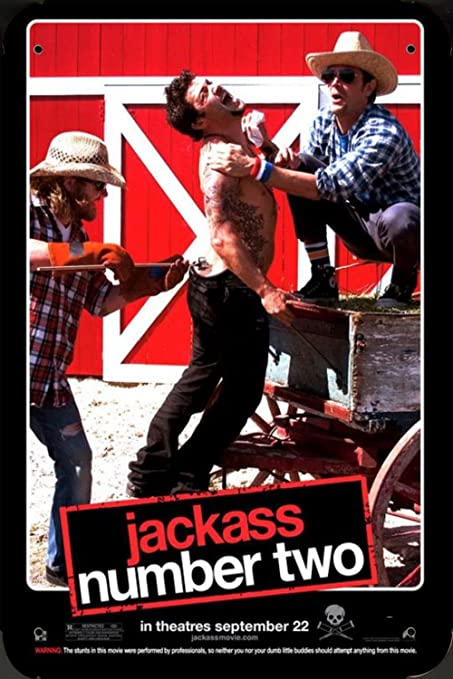 Jackass Number Two Ver2 pelicula metal poster cartel ...