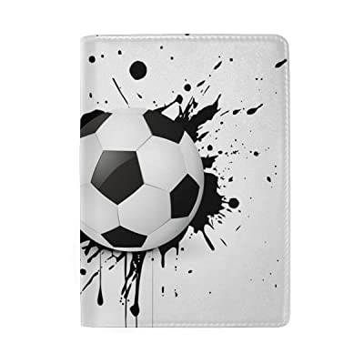 Blue Viper Soccer Placed On Grunge Design Personalized Leather Passport Holder Cover Case Travel Wallet