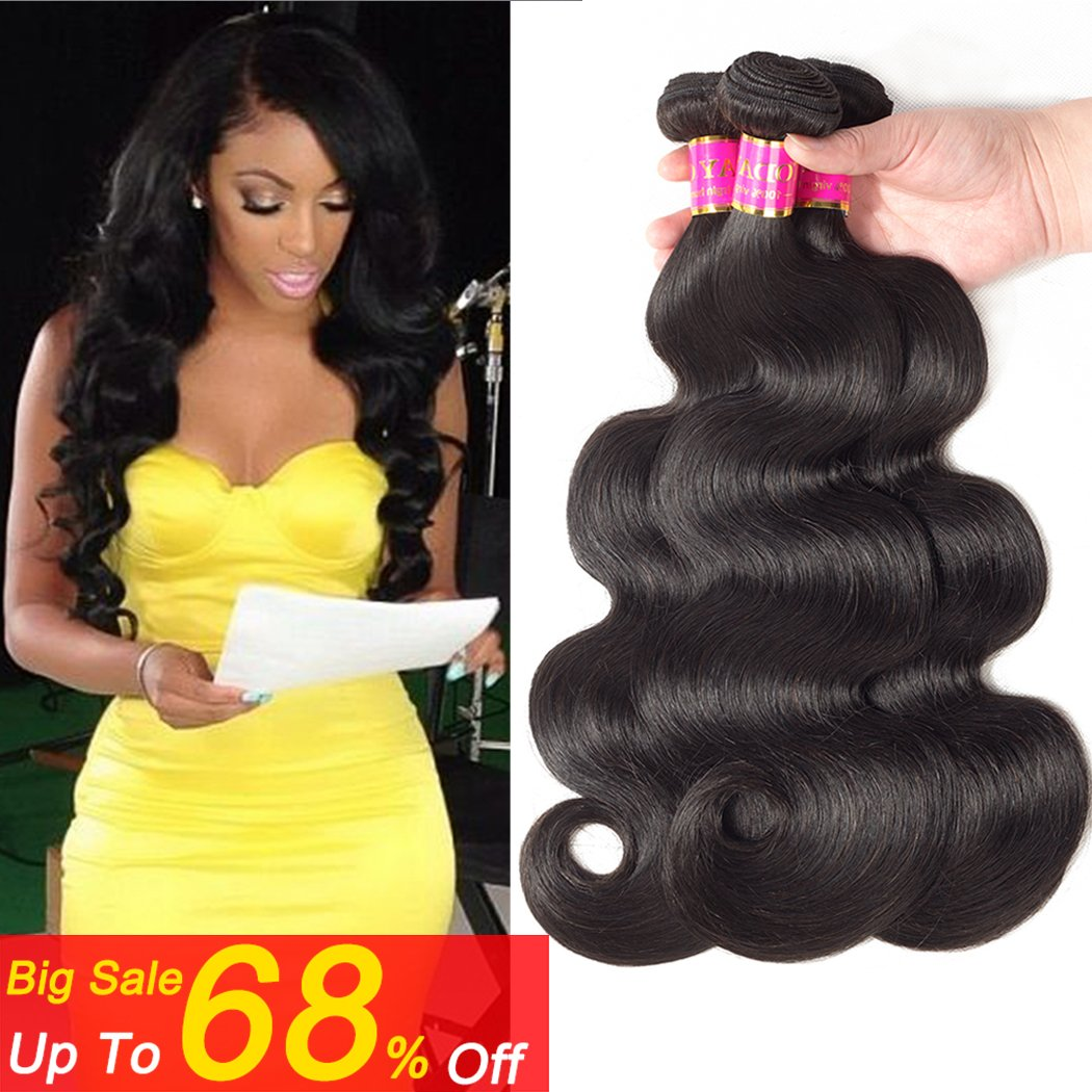 Amazon Lace Closure 3 Part 4x4 Body Wave Human Hair Piece With